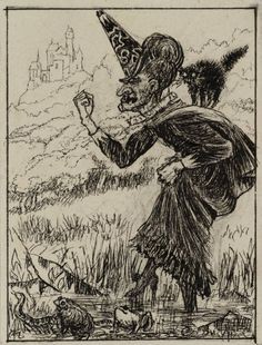 Arthur Hughes, The Wicked Fairy for 'At the Back of the North Wind', 1870