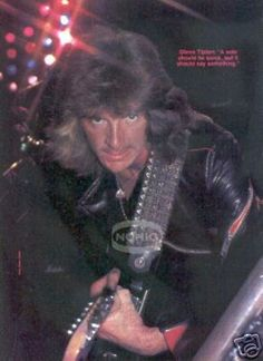 GLENN TIPTON vintage guitar magazine PINUP JUDAS PRIEST
