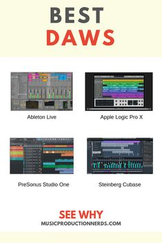 Best Digital Audio Workstation Software 2020 [All the DAWs] Multitrack Recording, Music Recording Studio, Music Studio Room, Recording Studio Design, Jazz Guitar Lessons, Music Lessons, Dj Music, Music Mix, Music Software