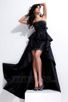 Sheath/Column Strapless Sequined Party Dress