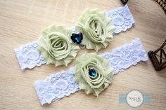 Wedding Garter Olive, Lace Garter, Lace Garter Set, Blue Lace Garter, Lace Garters, Venice Lace Garter, Stretch Lace Garter, Lace Lingerie by BespokeGarters on Etsy