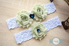 Wedding Garter Olive, Lace Garter, Lace Garter Set, Blue Lace Garter, Lace Garters, Venice Lace Garter, Stretch Lace Garter, Lace Lingerie by BespokeGarters on Etsy
