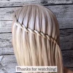 Easy Hairstyles For Long Hair, Braids For Short Hair, Braided Hairstyles, Prom Hairstyles, Braided Updo, Protective Hairstyles, Elf Hair, Waterfall Hairstyle, Hair Up Styles