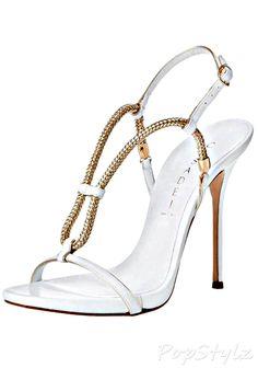 Casadei Grecian Italian Leather Dress Sandal