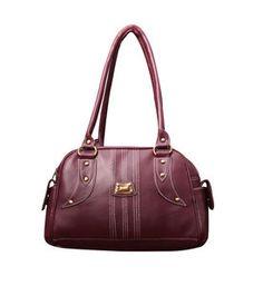 Smart Classy Fostelo Magenta Designer Faux Leather Handbags   Rs 399  Cocktail Dresses Online b6aadb19d0119