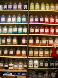potted pigments at Zecchi-one of Florence's oldest artist supply stores on Via dello Studio