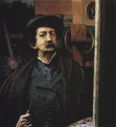 #2 ■ HAWKINS, Louis Welden (1849-1910) - Self-portrait. 1906. Oil on canvas, 78 × 71.5 cm - Van Gogh Museum, Amsterdam ■ Луис Велден ХОУКИНС - Автопортрет ■ Поразительный автопортрет художника, написанный им в 57 лет. Экспонировался на ретроспективной выставке работ Хоукинса, проходившей в музее Ван-Гога в 1993 году ■ Read more here/Подробнее здесь: http://www.dbnl.org/tekst/_van012199501_01/_van012199501_01_0012.php
