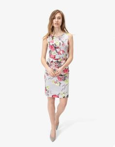 Laura Silver Posy Woven Dress | Joules US