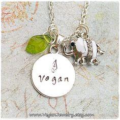 Elephant Jewelry, Elephant Necklace, Animal Jewelry, Jewelry Stamping, Stamped Jewelry, Vegan Meringue, Vegan Style, Vegan Fashion, White Enamel