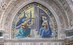 Porta della Mandorla - Lunetta - Jacopo della Quercia - Annunciazione - Duomo di Firenze