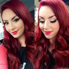 Pinky Pin up FOTD | Sara Ashouri's Beauty Blog....in love and looks exactly like my hair weiiiird