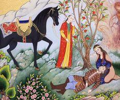 "A detail of ""Death of Farhad"", By Arghavan Samadian,"