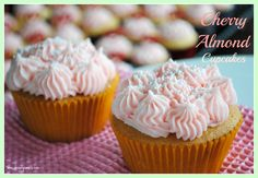Cherry Almond Cupcakes - Shugary Sweets