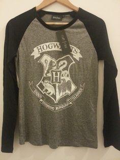 £14.99 - Primark Harry Potter T Shirt Hogwarts Crest long sleeve Womens UK Sizes 6-20
