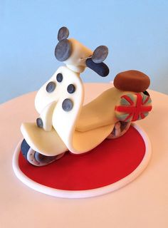 Close up - Scooter cake topper | Flickr - Photo Sharing!