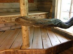 The importance of making the sauna benches from good, solid wood.
