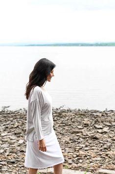 Soma Top – Duffield Design Beautiful Beaches, Grey And White, Nautical, Organic Cotton, Tops, Design, Fashion, Navy Marine, Moda