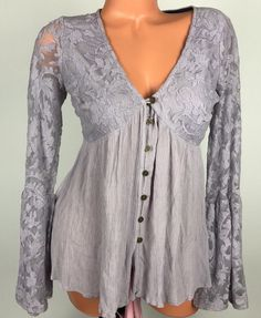 Xhilaration M Womens Tunic Baby Doll Lace Style Bell Long Sleeve Top Ctr #Xhilaration #TunicDressBabyDollStyle #AnyOccasion