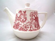 RESERVED for Tanya BESEDINA Vintage Turi Design Figgjo Flint Arden Tea Pot with lid 1960s Norway Mid Century