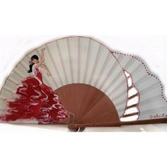 Abanico flamenca modelo gitana bailando