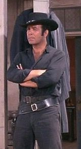"""Pernell Roberts as Adam Cartwright in """"The Legacy"""" Bonanza"""