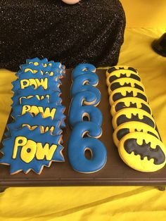 Awesome cookies at a Batman birthday party! See more party planning ideas at CatchMyParty.com!