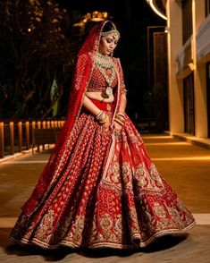 Red lehenga choli with dupatta. Choli can be customized from - Bust and - Length respectively. Indian Bridal Outfits, Indian Bridal Lehenga, Indian Bridal Fashion, Indian Dresses, Indian Sarees, Rajasthani Lehenga, Red Wedding Lehenga, Rajasthani Bride, Latest Bridal Lehenga