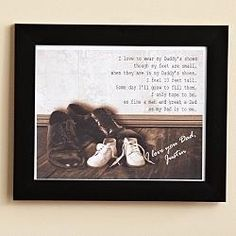 father's day Gift Idea: In Your Shoes Canvas Print