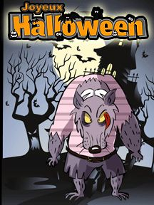 A imprimer pour Halloween, une carte d'invitation Loup Garou