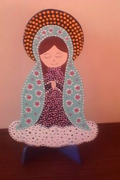 Religious Paintings, Christmas Nativity, Little Flowers, Mandala Art, Easy Projects, Folk Art, Religion, Crafty, Wallpaper