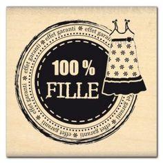 Tampon Fille 100% de Florilèges Chez entrez-sans-frapper-deco Printable Labels, Printables, Punch Art, Tampons, Clear Stamps, Project Life, Scrapbook Cards, Vignettes, Ephemera
