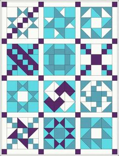 Traditional Patchwork Quilt Pattern and Tutorial (Part Here is the first part of the patchwork tutorial to make this quilt top. The finished size is approximately x I have chosen four colours to make my quilt but if you want a more… Sampler quilt, full Tutorial Patchwork, Patchwork Quilt Patterns, Barn Quilt Patterns, Pattern Blocks, Quilting Patterns, Crochet Quilt Pattern, Barn Quilt Designs, Quilting Designs, Quilting Tutorials