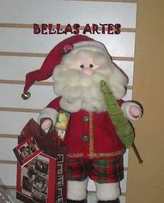 Blog voltado à artesanato em geral. Lilo Stitch, Felt Ornaments, Christmas Ornaments, Arte Country, Christmas Decorations, Holiday Decor, Toy Boxes, Fabric Dolls, Decor Crafts