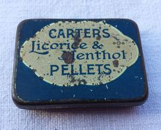 Carters vintage tin by essenzials on Etsy