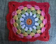 Robin's nest square | ayarnyrobin free crochet pattern and tutorial for this stunning granny square
