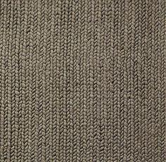 Chunky Braided Wool Rug Swatch   Grey
