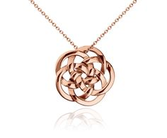 Infinity Medallion Pendant in 14k Rose Gold #BlueNile