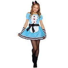 Check out Tween Miss Wonderland Costume - Tween Girls Costumes from Wholesale Halloween Costumes Cute Halloween Costumes For Teens, Tween Costumes, Kids Costumes Girls, Adult Halloween Party, Cute Costumes, Halloween Fancy Dress, Group Halloween, Easy Halloween, Alice Costume