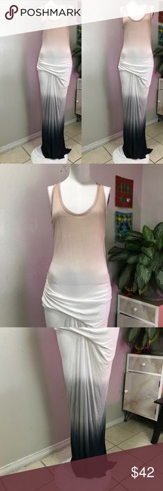 YOUNG FABULOUS AND BROKE SZ XS COTTON DRESS OMBRÉ Ombré maxi Young Fabulous & Broke Dresses