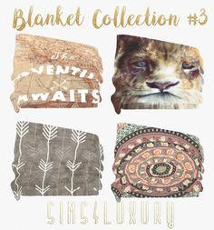 Sims 4 Luxury - Blanket Collection 3 for The Sims 4