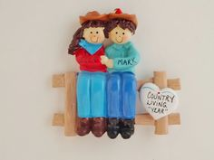 Personalized Western Couple Ornament-Couple by OrindasOrnaments