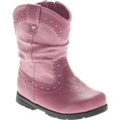 620b238dd241 Faded Glory - Faded Glory - Baby Girls' Flower Boots - Walmart.com. Cowgirl  Boots For KidsToddler ...