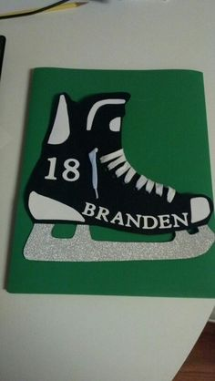 Hockey tournament door hanger.