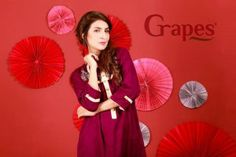Grapes Brand Ladies Self Cotton Kurta 2014 1 300x200 Grapes Brand Ladies Self Cotton Kurta 2014