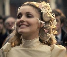 Sharon looked SO happy on her wedding day