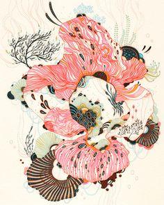 Giclee Fine Art Print Nourish Print от yellena на Etsy