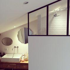 Une salle de bain épurée, bathroom, decoration #madecoamoi
