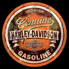 Harley Davidson vintage sign with rust texture by Domestrialization.deviantart.com on @DeviantArt