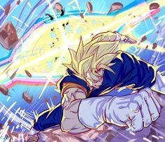 Dragon Ball Z, Dragon Ball Image, Manga Anime, Anime Art, Gogeta And Vegito, Character Art, Drawings, Artwork, Son Goku