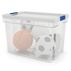 Xago Heavy duty Clear Plastic XL Stackable Storage box & lid - B&Q for all your home and garden supplies and advice on all the latest DIY trends Heavy Duty Storage Boxes, Storage Boxes With Lids, Stackable Storage Boxes, Box With Lid, Kitchen Storage, Decoration, Household, Decorative Boxes, Plastic